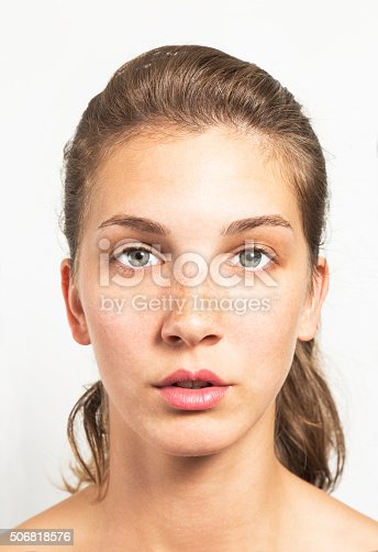 istock Portrait of a Beautiful Woman with Healthy Natural Face 506818576