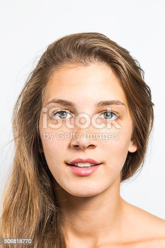 istock Portrait of a Beautiful Woman with Healthy Natural Face 506818770