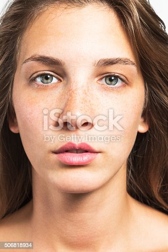 istock Portrait of a Beautiful Woman with Healthy Natural Face 506818934