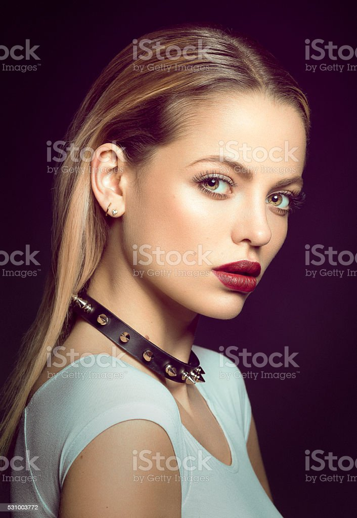 Portrait of a Beautiful Young Blonde Woman. Beauty Photo stock photo
