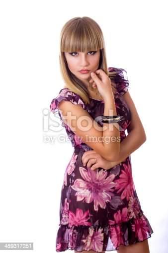 172214590 istock photo Portrait of a beautiful young blonde woman 459317251