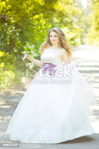 506798692 istock photo Portrait of a beautiful young bride 498320491