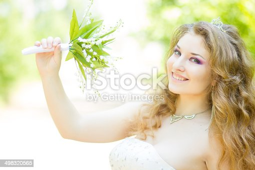 506798692 istock photo Portrait of a beautiful young bride 498320565