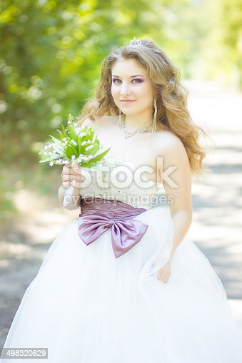 506798692 istock photo Portrait of a beautiful young bride 498320629
