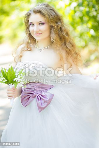 506798692 istock photo Portrait of a beautiful young bride 498320639