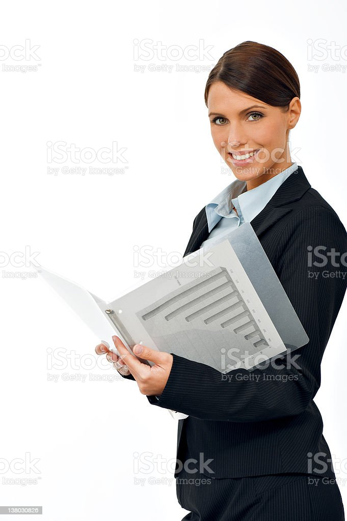 Portrait of a beautiful young businesswoman stock photo