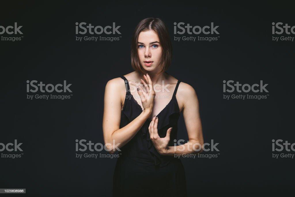 Portrait Eines Schonen Jungen Kaukasischen Kaukasischen Frau 20