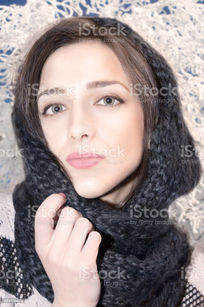 Portrait of a beautiful young girl royalty-free stock photo