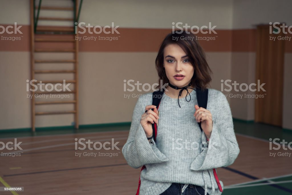 portrait of a beautiful young girl stock photo