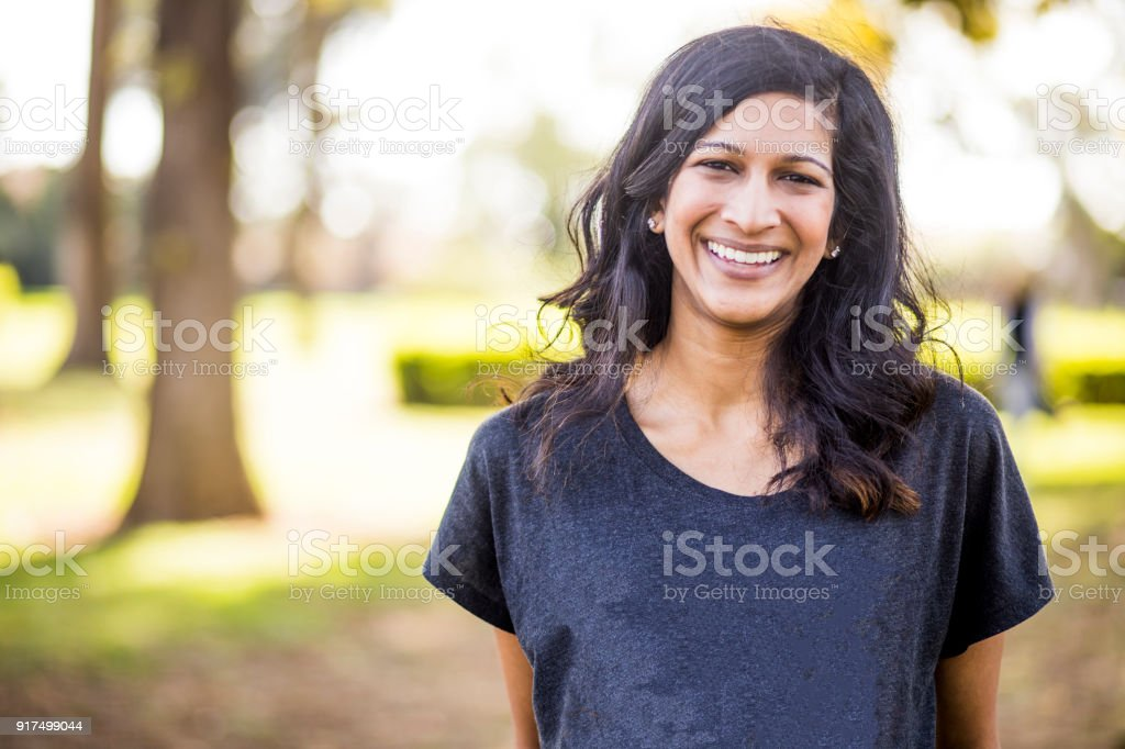 Portrait of a Beautiful Young Indian Woman stock photo