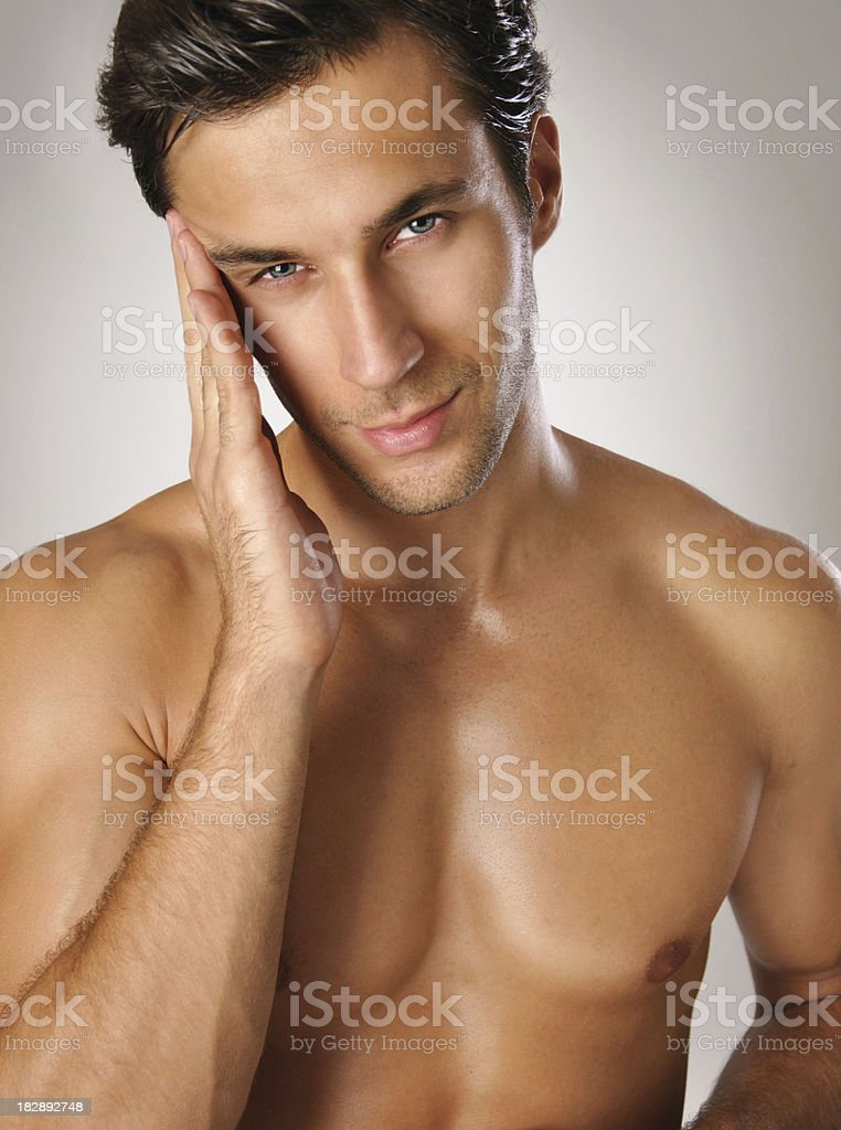 portrait of a beautiful young man stock photo
