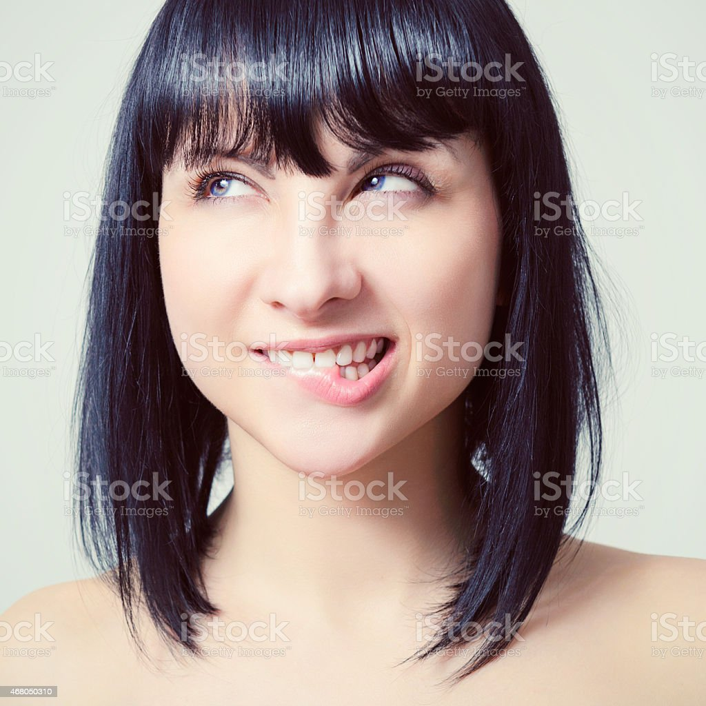 Portrait of a beautiful young sexy woman. stock photo