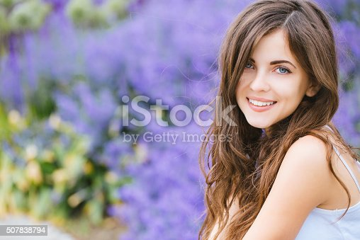 istock Portrait of a beautiful young student girl in the park 507838794