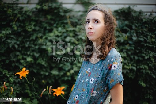 portrait, one young woman only, 20-29 years,