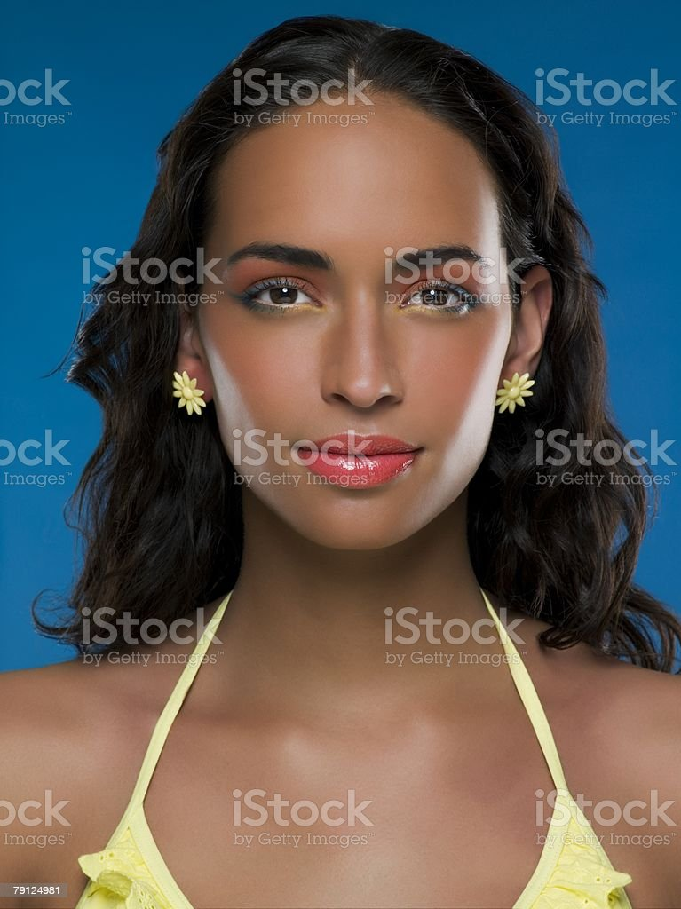 Portrait of a beautiful young woman 免版稅 stock photo