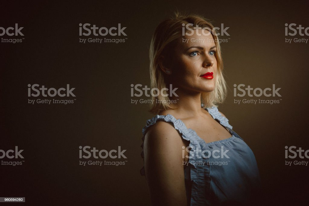 Portrait of a beautiful young woman stock photo