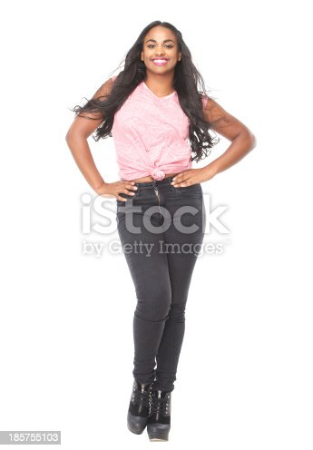 629077968istockphoto Portrait of a beautiful young woman with long hair 185755103