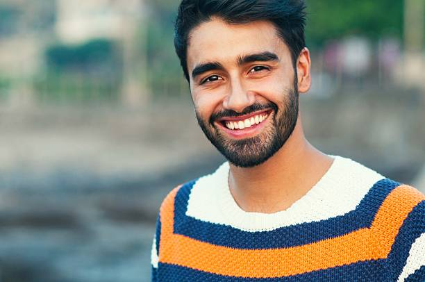 portrait of a beautifull smiling man - handsome people stock photos and pictures