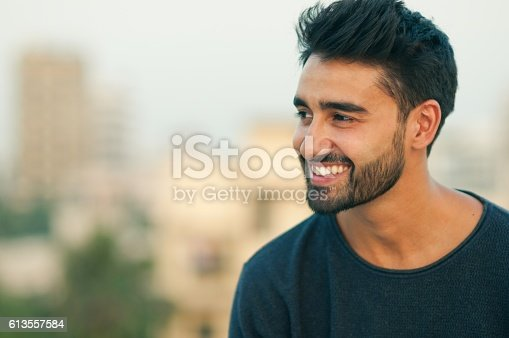 istock Portrait of a beautifull smiling man. 613557584