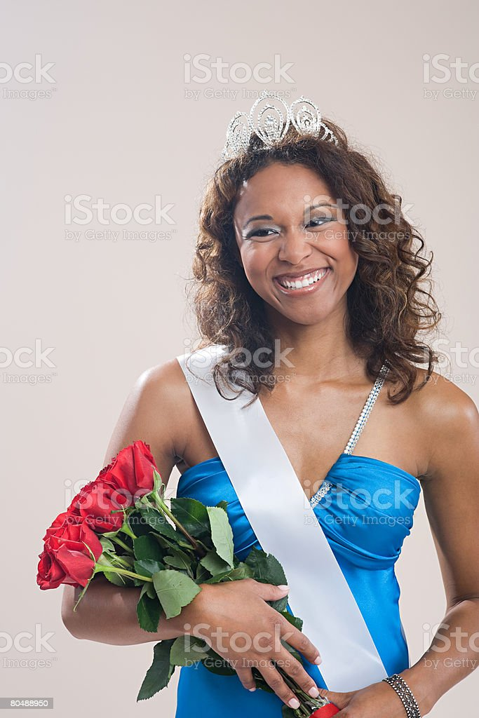 Portrait of a beauty queen stock photo
