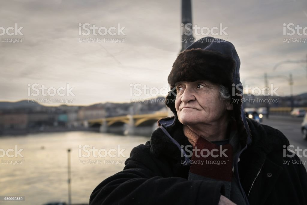 Portrait of a begger stock photo