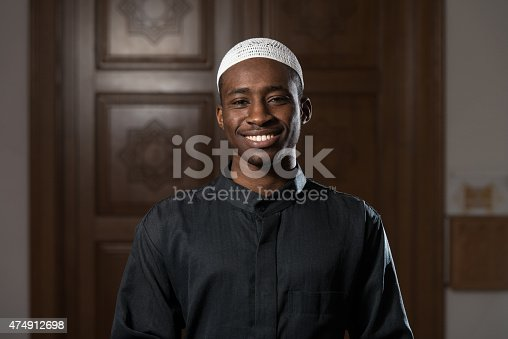 istock Portrait Of A Black African Man In Mosque 474912698