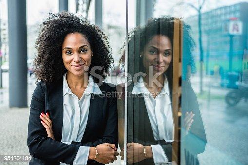 istock Portrait of a black businesswoman outdoors 954204184