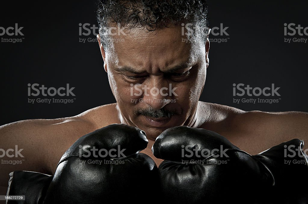 Portrait of a Black Fighter stock photo