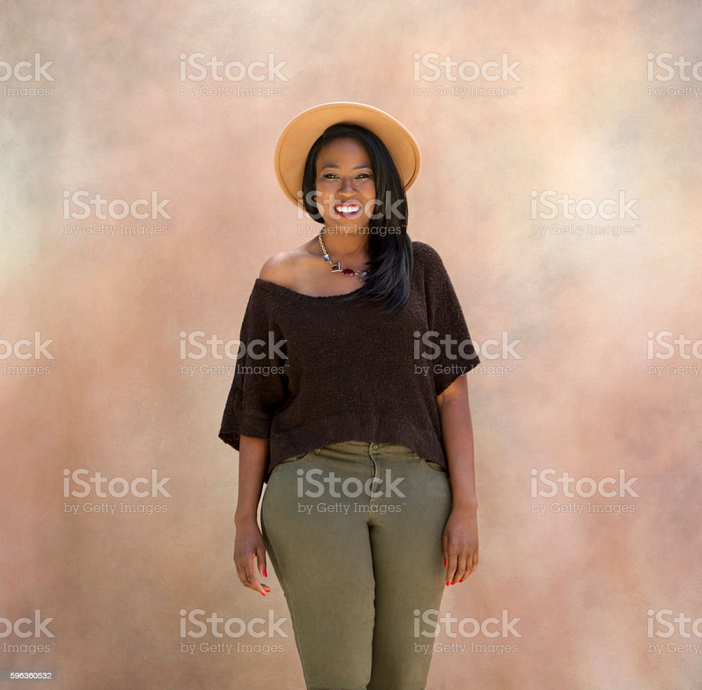 Portrait of a Black Girl royalty-free stock photo