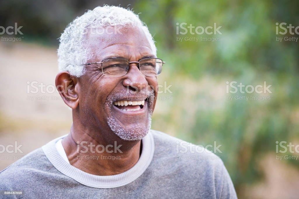 Portrait of a Black Man stock photo