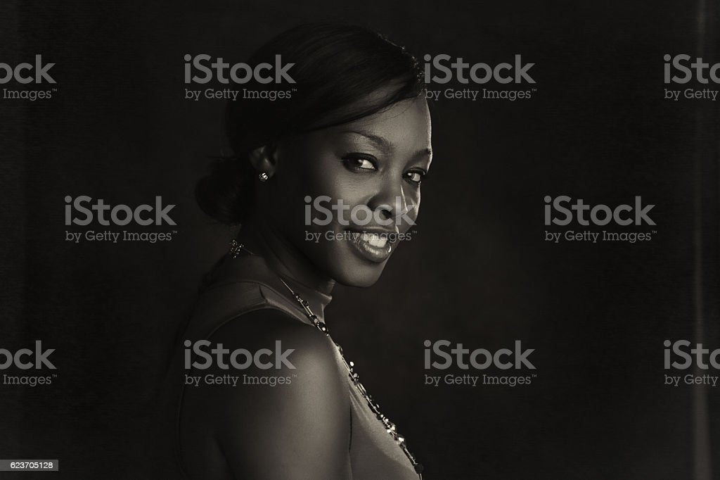 Portrait of a black woman stock photo