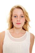 Portrait of a blond teenage girl