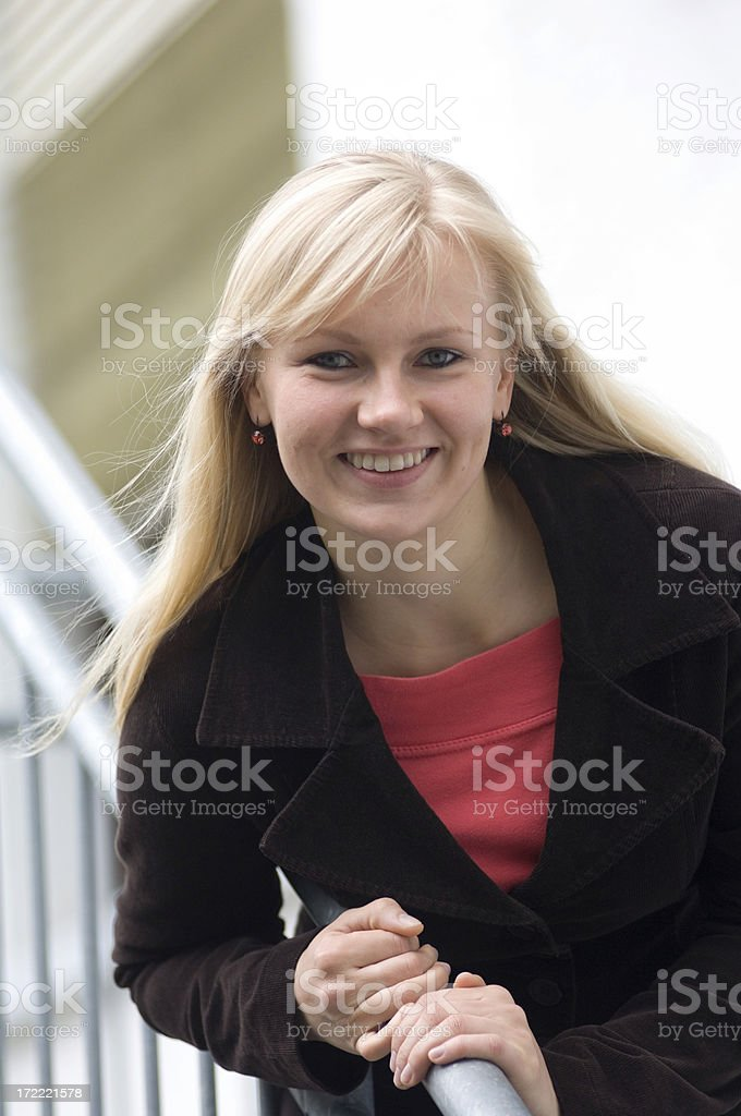 Portrait of a blonde woman royalty-free stock photo
