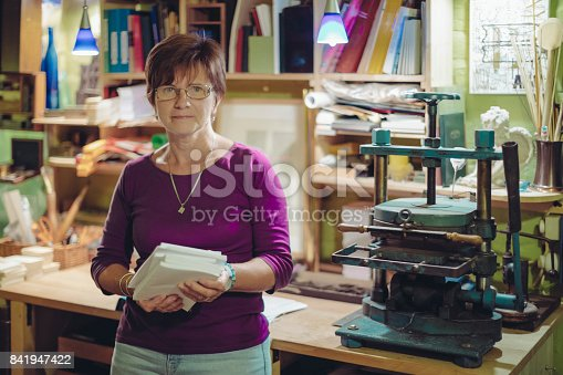 Portrait of a bookbinder