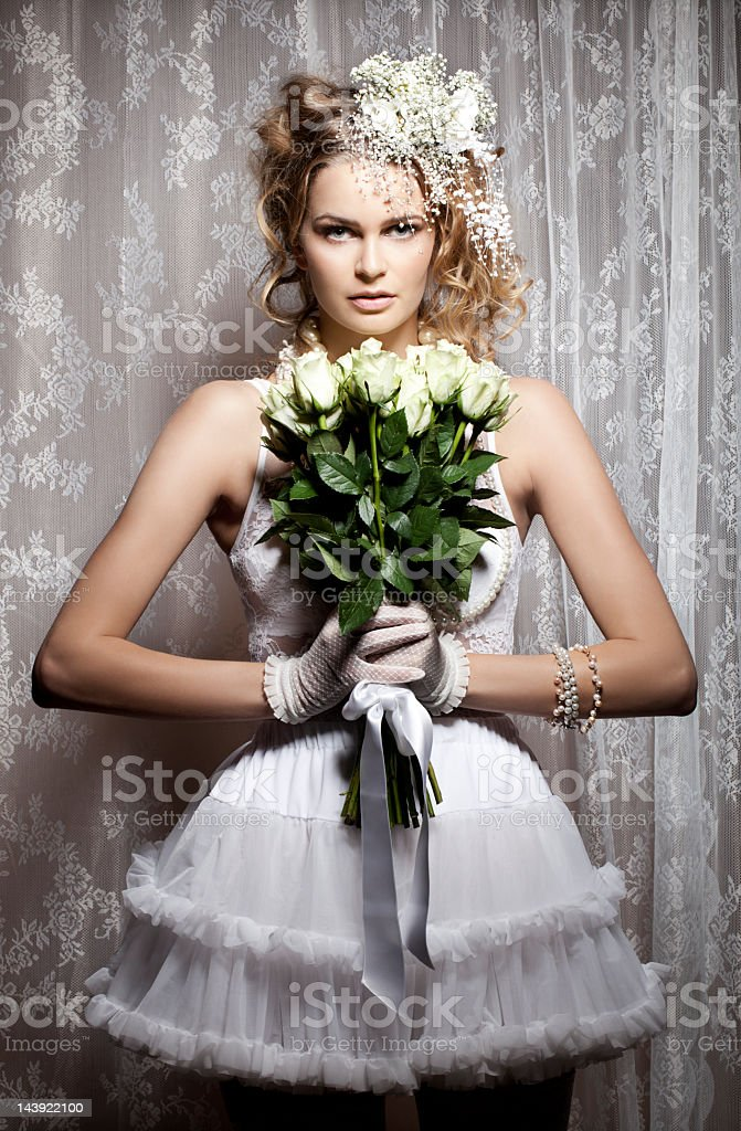 Portrait of a bride royalty-free stock photo
