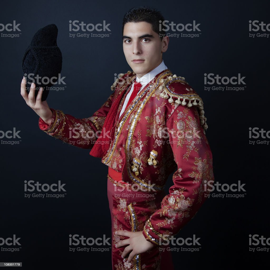 Portrait of a Bullfighter stock photo
