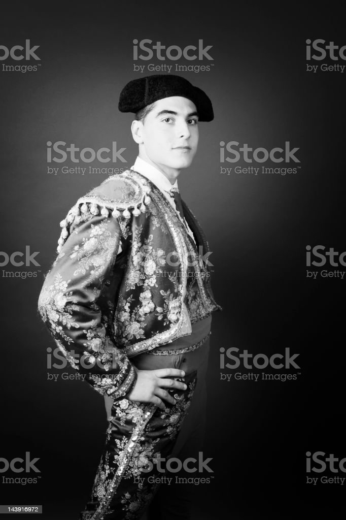 Portrait of a Bullfighter royalty-free stock photo