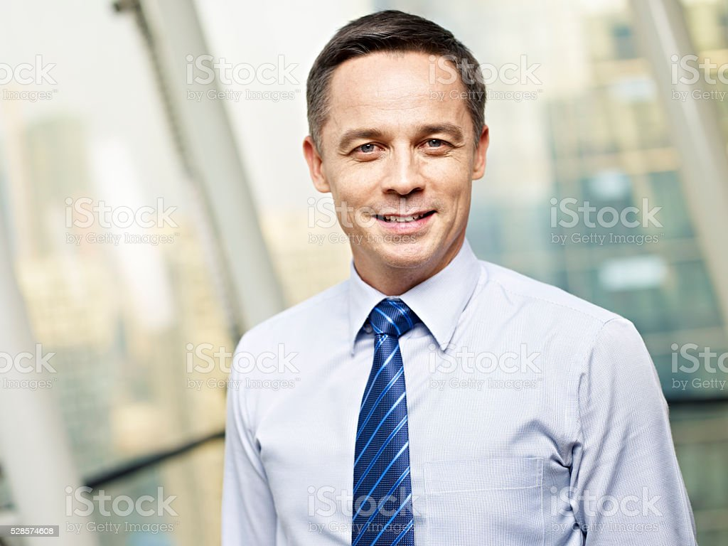 portrait of a business executive stock photo