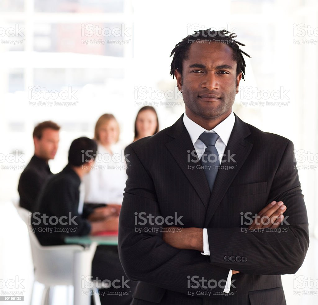Portrait of a business leader royalty-free stock photo