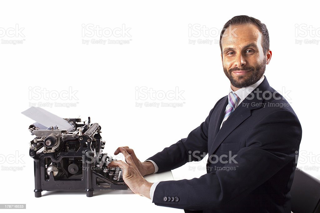 Portrait of a business man isolated. royalty-free stock photo