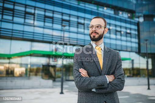891418990 istock photo Portrait of a business man 1252903483