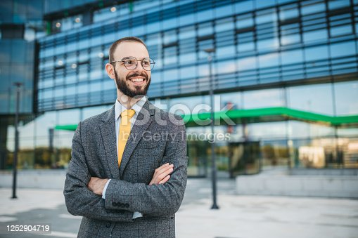 891418990 istock photo Portrait of a business man 1252904719