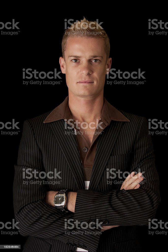 Portrait of a business man stock photo