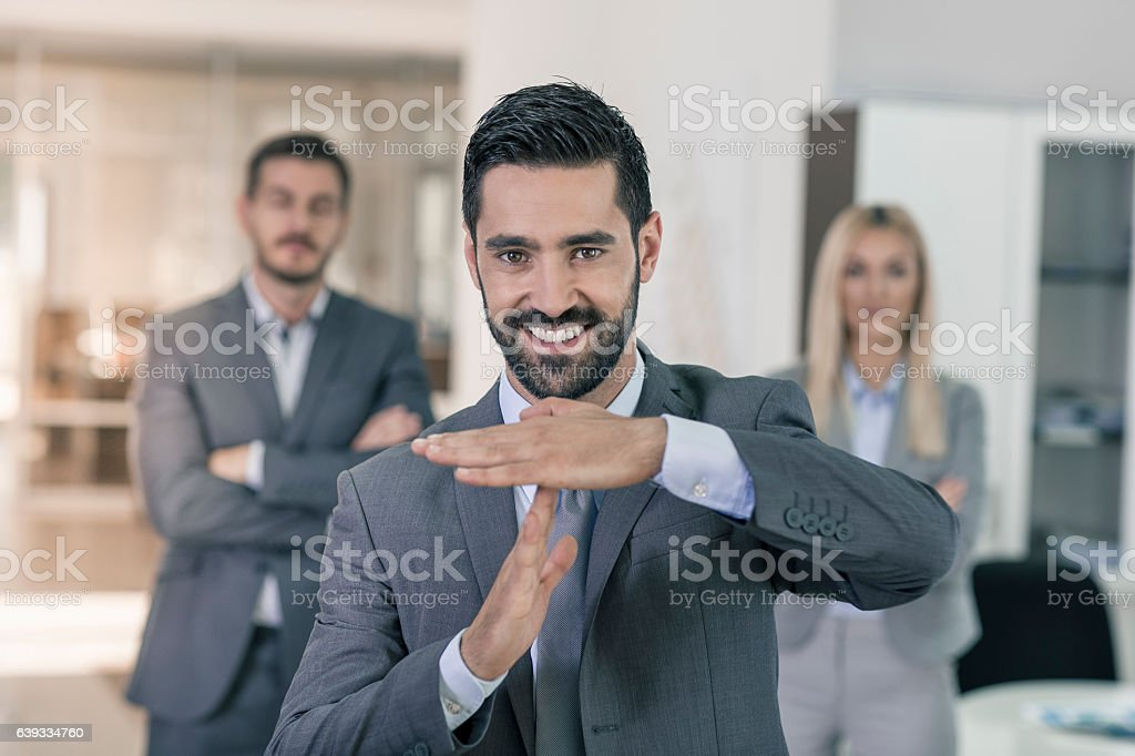 Portrait of a business man stock photo