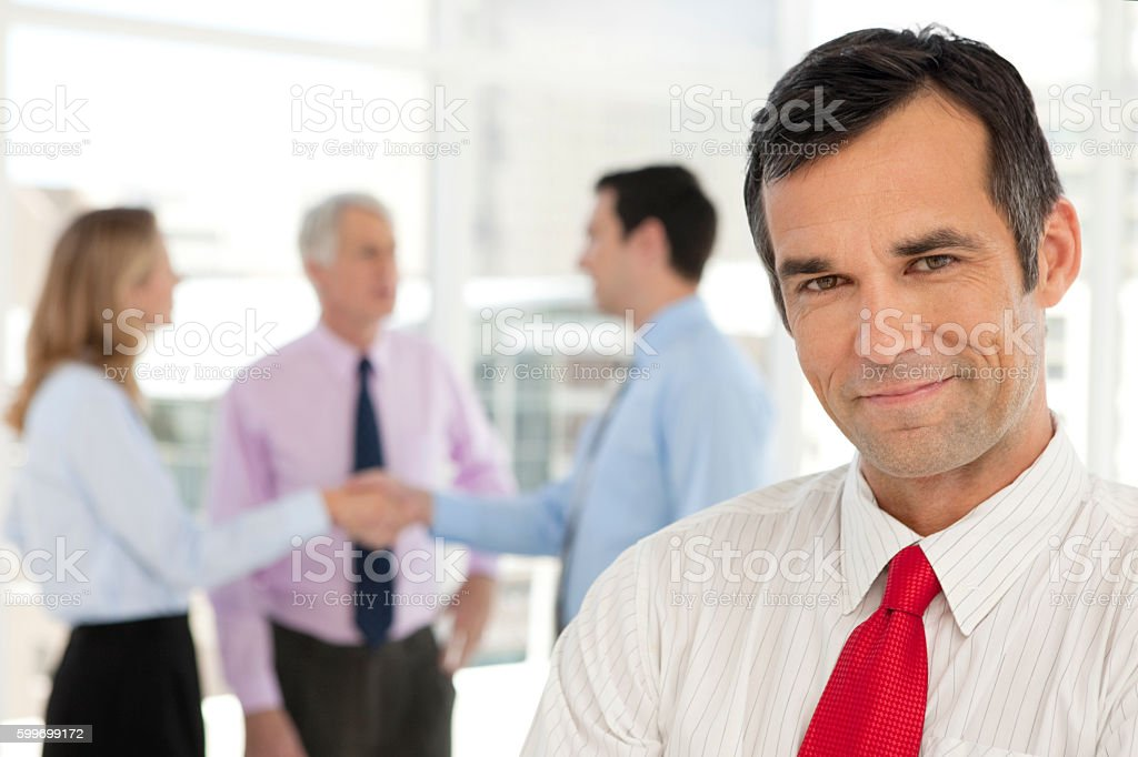 Portrait of a business partner stock photo