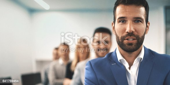 istock Portrait of a business team. 641769454