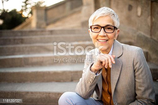 1044149594 istock photo Portrait of a business woman. 1151207221