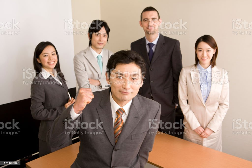 Portrait of a businessman from five royalty-free stock photo