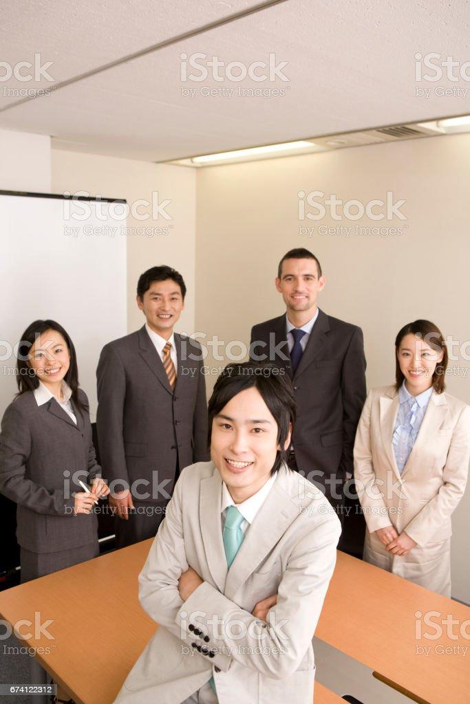 從五個商人的肖像 免版稅 stock photo