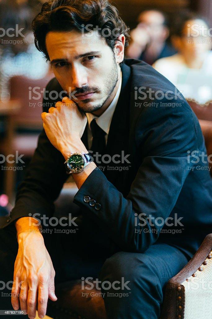 portrait of a businessman stock photo